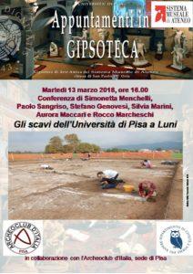 Locandina Gli scavi dell'Università di Pisa a Luni