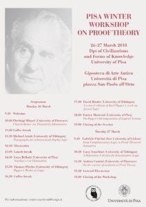 Locandina Pisa Winter Workshop on Proof Theory