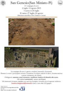 Locandina XV campagna di scavo San Genesio