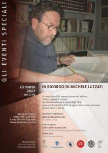 Locandina volume in ricordo di Michele Luzzati
