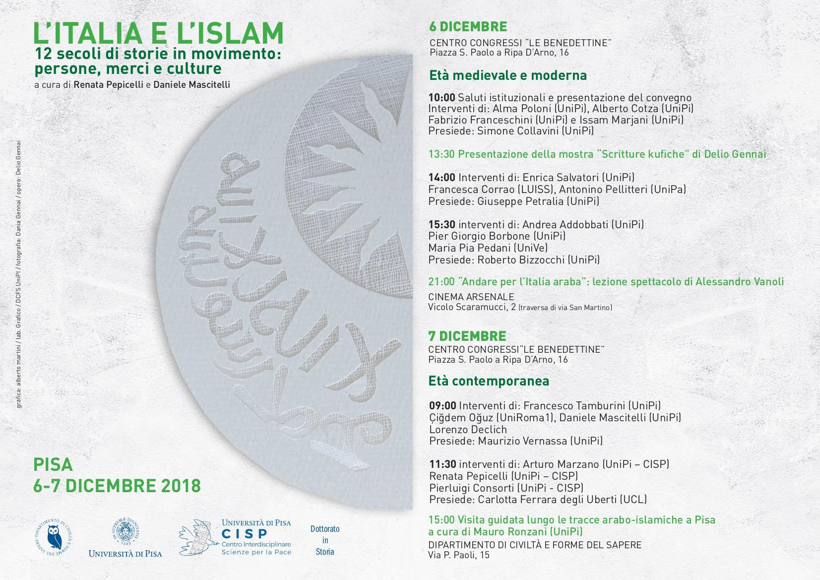 Locandina convegno L'Italia e l'Islam