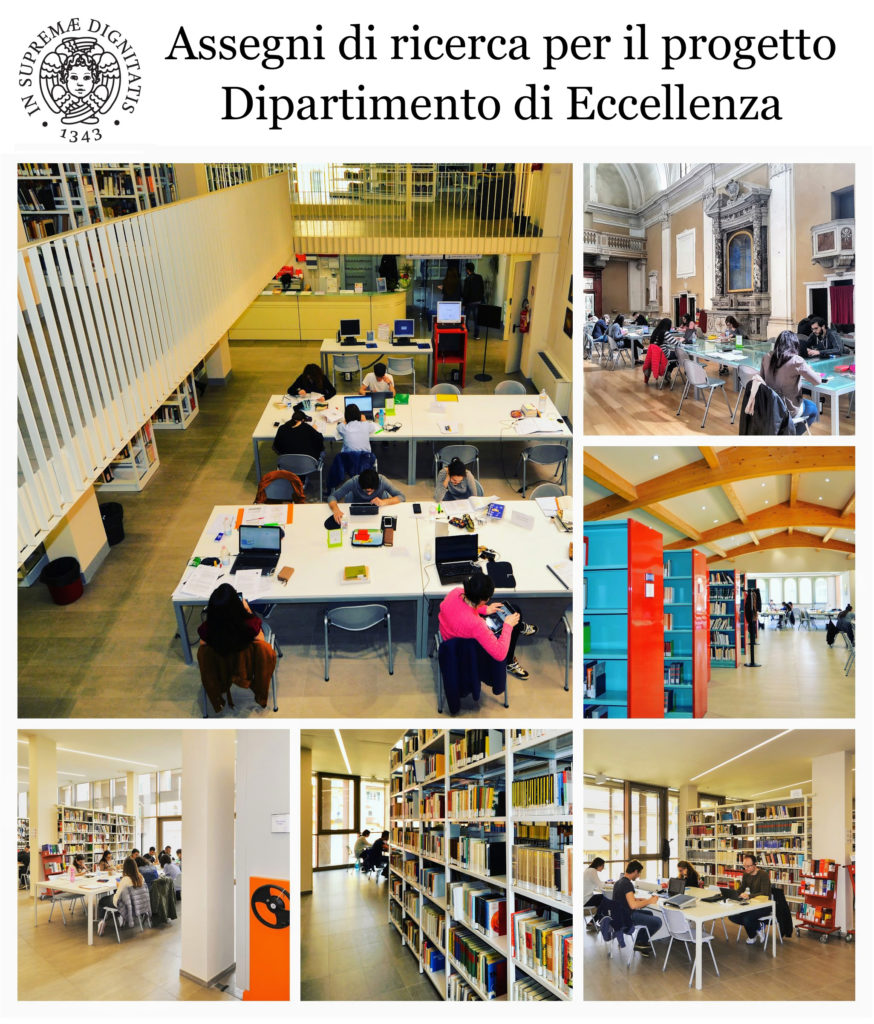 Assegni di ricerca per il progetto Dipartimento di Eccellenza