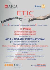 Locandina concorso ETIC