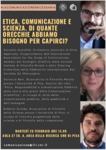 Seminario Etica, comunicazione e scienza