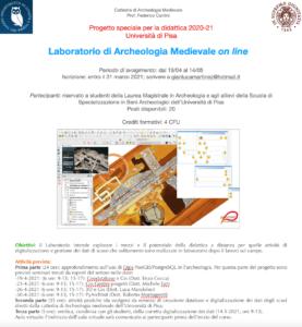 lab archeologia medivale online