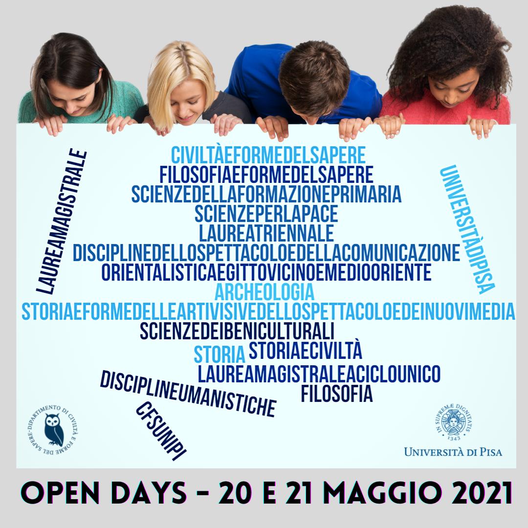 OPEN DAYS - 20-21 maggio 2021