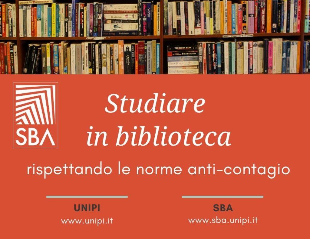 studiare in biblioteca norme anti contagio